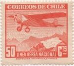 Stamps America - Chile -  Y & T Nº 57 Aéreo