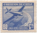 Stamps America - Chile -  Y & T Nº 60 Aéreo