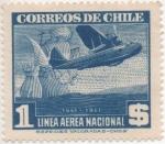 Sellos del Mundo : America : Chile : Y & T Nº 62 Aéreo