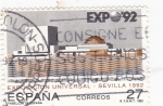 Stamps : Europe : Spain :  Expo-92 pabellón de España (31)