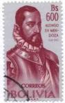 Stamps America - Bolivia -  Homenaje a Alonso de Mendoza Fundador de la ciudad de La Paz