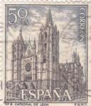 Stamps Spain -  CATEDRAL DE LEÓN (31)