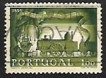 de Europa - Portugal -  Aniversario de la primera locomotiva