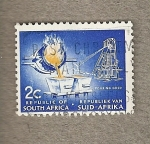 Stamps Africa - South Africa -  Minería oro