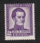 Stamps : America : Chile :  General José Miguel Carrera (1785-1821)
