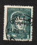 Sellos de America - Chile -  Bernardo O'Higgins (1776-1842)