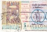 Stamps Spain -  Basílica Monastério de Ripoll (31)