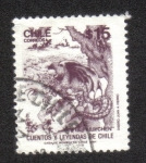 Stamps Chile -  El Pihuychen DS Nº20