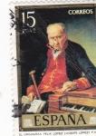 Stamps : Europe : Spain :  EL ORGANISTA FELIX LOPEZ-Vicente Lopez- (31)