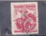 Stamps : Europe : Austria :  TRAJE REGIONAL