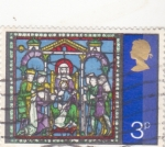 Sellos del Mundo : Europa : Reino_Unido : ILUSTRACION ADORACIÓN AL NIÑO JESUS