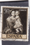 Stamps : Europe : Spain :  VIRGEN DEL ROSARIO -Murillo (32)