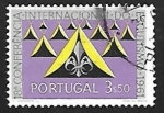 Stamps Europe - Portugal -  Tienda y emblema Scout