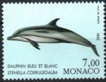 Stamps Monaco -  DELFIN  BLANCO  Y  AZUL.  STENELLA  COERULEOALBA.