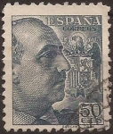 Stamps Spain -  General Franco 1939 50 cents