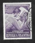 Sellos de America - Argentina -  510 - Exposición filatélica internacional