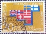 Sellos de Europa - Suiza -  Scott#481 intercambio, 0,20 usd, 20 cents. 1967
