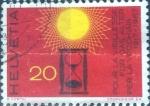 Stamps Switzerland -  Scott#484 intercambio, 0,20 usd, 20 cents. 1967