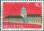 Stamps Switzerland -  Scott#734 intercambio, 0,30 usd, 40 cents. 1983