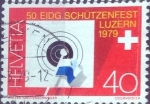 Stamps of the world : Switzerland :  Scott#672 intercambio, 0,25 usd, 40 cents. 1979