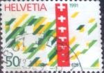 Sellos de Europa - Suiza -  Scott#867 intercambio, 0,40 usd, 50 cents. 1990