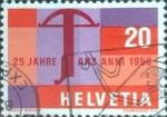 Stamps Switzerland -  Scott#367 intercambio, 0,20 usd, 20 cents. 1958