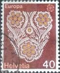 Sellos de Europa - Suiza -  Scott#614 intercambio, 0,25 usd, 40 cents. 1976