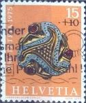 Sellos de Europa - Suiza -  Scott#B430 intercambio, 0,20 usd, 15+10 cents. 1975