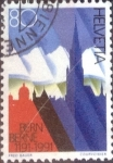 Sellos de Europa - Suiza -  Scott#889 intercambio, 0,60 usd, 80 cents. 1991