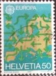 Stamps Switzerland -  Scott#822 intercambio, 0,40 usd, 50 cents. 1988