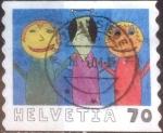 Stamps Switzerland -  Scott#1080 intercambio, 0,60 usd, 70 cents. 2000