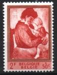 Stamps : Europe : Belgium :  MATERNIDAD,  PINTURA  DE  CONSTANT  PERMEKE.