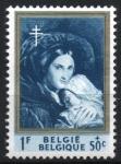 Stamps : Europe : Belgium :  AMOR  DE  MADRE,  PINTURA  DE  FRANCOIS  JOSEPH  NAVEZ.