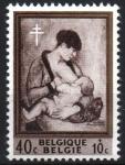 Stamps : Europe : Belgium :  MADRE  E  HIJO,  PINTURA  DE  PIERRE  PAULUS.