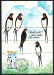 Stamps : Europe : Liechtenstein :  GOLONDRINAS