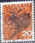 Sellos de Europa - Suiza -  Scott#B352 intercambio, 0,20 usd, 20+10 cents. 1965
