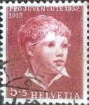 Sellos de Europa - Suiza -  Scott#B217 intercambio, 0,35 usd, 5+5 cents. 1952