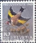 sello : Europa : Suiza : Scott#B386 intercambio, 0,20 usd, 10+10 cents. 1969