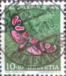 de Europa - Suiza -  Scott#B258 intercambio, 0,30 usd, 10+10 cents. 1956