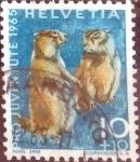 de Europa - Suiza -  Scott#B351 intercambio, 0,20 usd, 10+10 cents. 1965