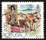 Sellos de Europa - Portugal -  Lisboa y la estatua de San Vicente