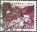 de Europa - Suiza -  Scott#B234 intercambio, 0,50 usd, 20+10 cents. 1954