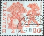 Stamps Switzerland -  Scott#634 intercambio, 0,20 usd, 20 cents. 1977