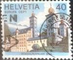 Stamps Switzerland -  Scott#657 intercambio, 0,30 usd, 40 cents. 1978