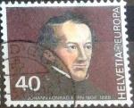 Stamps Switzerland -  Scott#685 intercambio, 0,20 usd, 40 cents. 1980