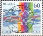 Sellos de Europa - Suiza -  Scott#960 intercambio, 0,50 usd, 60 cents. 1995