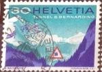 Stamps Switzerland -  Scott#495 intercambio, 0,25 usd, 30 cents. 1967