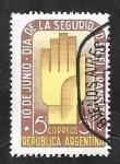Stamps Argentina -  496 - Día de la Seguridad en el transito