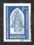 Sellos de America - Argentina -  628 - Primer Congreso Mariano Internacional, Virgen de Lujan