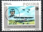 Stamps : Europe : Poland :  PRIMER  VUELO  CON  MOTOR  SOBRE  VARSOVIA, 1911.